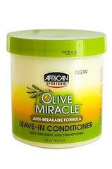 African Pride Olive Miracle Leave-In Conditioner-Jar 15oz