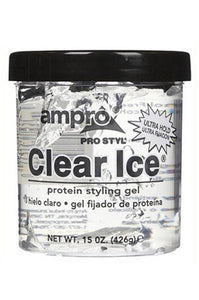 Ampro Pro Clear Ice Protein Styling Gel Ultra Hold 15oz