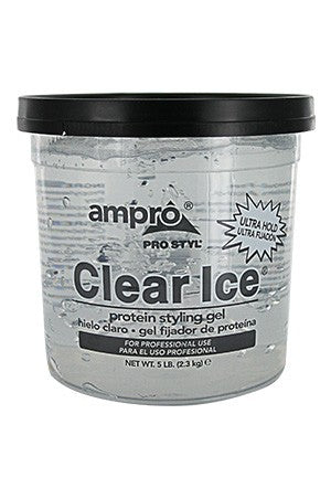 Ampro Pro Clear Ice Protein Styling Gel Ultra Hold 32oz