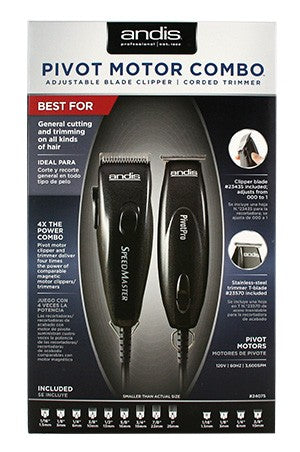 Andis Pivot Motor Clipper/Trimmer Combo-Black