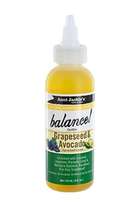 Aunt Jackie's Natural Growth Oil-Grapeseed & Avocado 4oz
