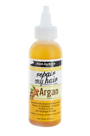 Aunt Jackie's Natural Growth Oil Repair My Hair-Argan 4oz