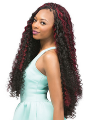 "Bohemian Curl 4 in 1 Loop 24"", Synthetic Braids"