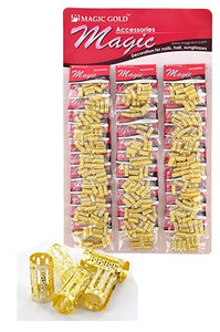 Gold Hair & Nail Ring Large Bead pk of 10 pieces