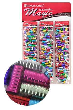 Assorted Hair & Nail Ring Large Bead pk of 10 pieces
