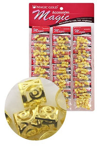 Gold Hair & Nail Ring Bead pk of 10 pieces