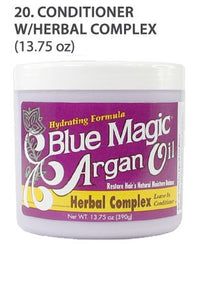 Blue Magic Argan Oil Conditioner W/Herbal Complex 13.75oz