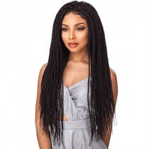 Cloud9 4x4 Part Swiss Lace Wig BOX BRAID SMALL, Synthetic Hair Wig