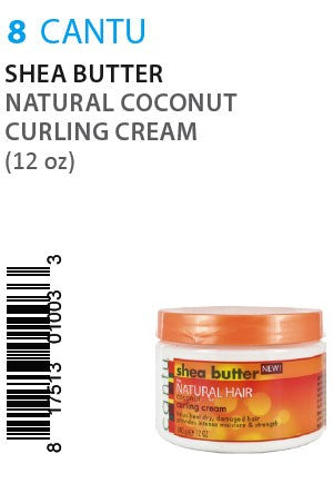 Cantu Shea Butter Natural Coconut Curling Cream 12oz