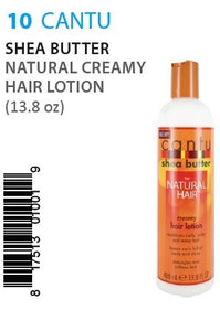 Cantu Shea Butter Natural Creamy Hair Lotion 12 Oz