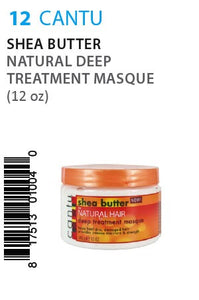 Cantu Shea Butter Natural Deep Treatment Masque 12oz