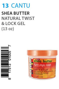 Cantu Shea Butter Natural Twist & Lock Gel 13oz
