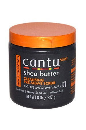 Men's Shea Butter Cleansing Pre-Shave Scrub 8oz, For Men