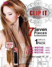 "Clip-It Straight 18"", 100% Human Hair"