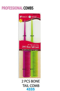 Bone Tail Comb Assort 2 pcs