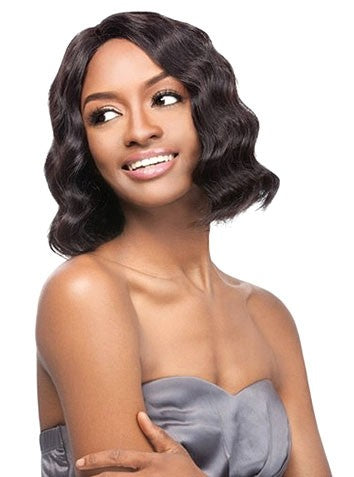 Simply Lace Front Wig Brazilian Natural Deep Bob, 100% Remi Hair Wig