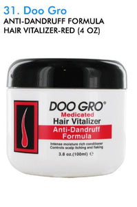 Doo Gro Anti-Dandruff Formula Hair Vitalizer-Red 4oz