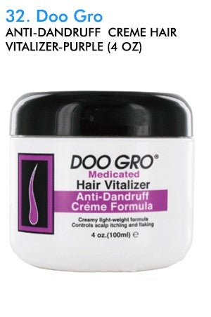 Doo Gro Anti-Dandruff  Creme Hair Vitalizer-Purple 4oz
