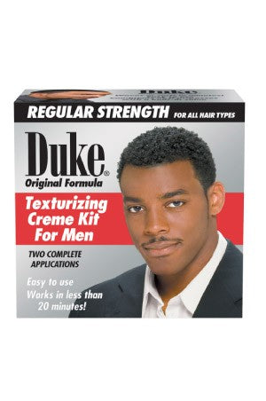 Duke Original Formula Texturizing Cream Kit for men -Regular 2 Complete Applications, For Men