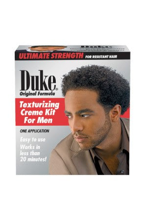 Duke Original Formula Texturizing Cream Kit for men -Regular 1 Complete Applications, For Men