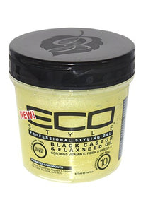 Eco Black Castor & Flaxseed Oil Gel 16oz