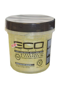 Eco Black Castor & Flaxseed Oil Gel 8oz