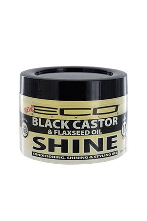 Eco Shine Gel -Black Castor & Flaxseed Oil Max Hold 10oz