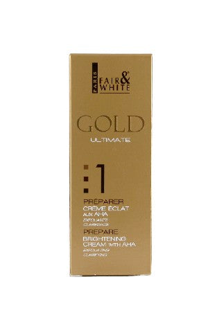 Fair & White Gold 1 Brightening Cream w/AHA 75ml