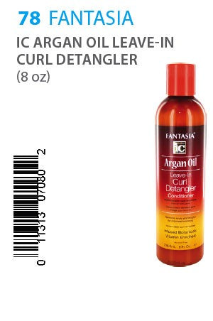 Fantasia IC Argan Oil Leave-In Curl Detangler 8oz