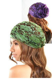 Fashion Net Cap Color with Flower Shape