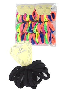 "Seamless Elastic Ponytail Holder 6"" Small 10pc"