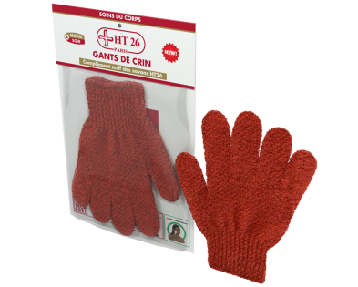 HT26 - 2 soft scrub gloves