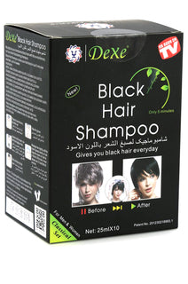 DEXE] Black Hair Shampoo (25ml, 10pcs/box)