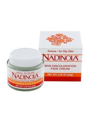 Nadinola Skin Fade Cream Deluxe for Oil Skin 2.25oz