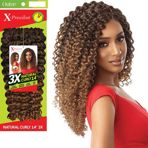 "X-PRESSION NATURAL CURLY 14"" 3X"