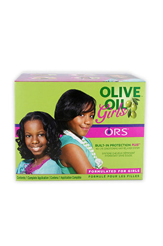 Organic Root Olive Oil Girls No-Lye Cond Relaxer Kit