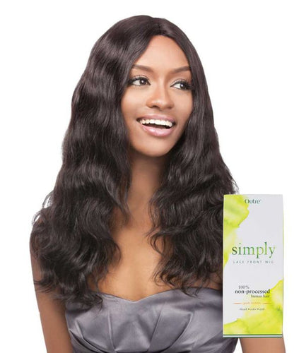 Simply Lace Front Wig Brazilian Natural Wave, 100% Remi Hair Wig