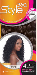 Style 360 Super Wave 12, 14, Human Hair Extensions