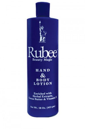 Rubee Hand & Body Lotion 16oz  Blue