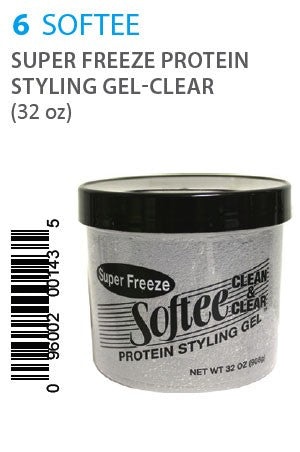 Softee Super Freeze Protein Styling Gel-Clear 32oz
