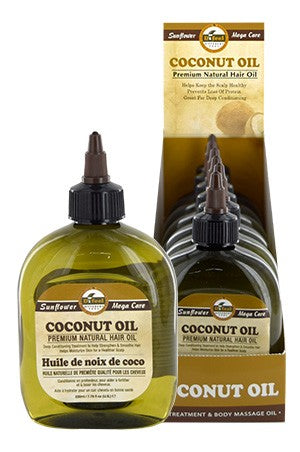 Sunflower Difeel Premium Natural Hair Oil Coconut 7.78oz
