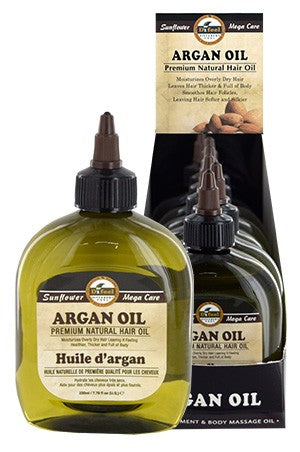 Sunflower Difeel Premium Natural Hair Oil Argan Oil 7.78oz