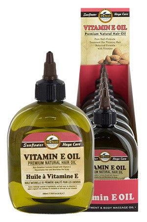 Sunflower Difeel Premium Natural Hair Oil Vitamin E 7.78oz