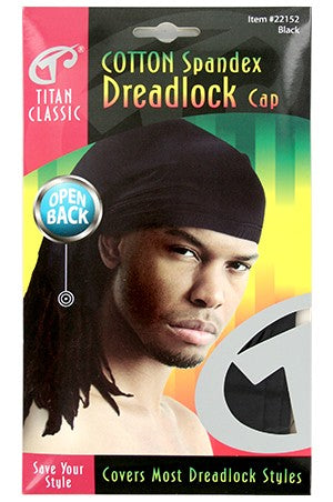 Titan Cotton Spandex Dreadlock Open Back Black