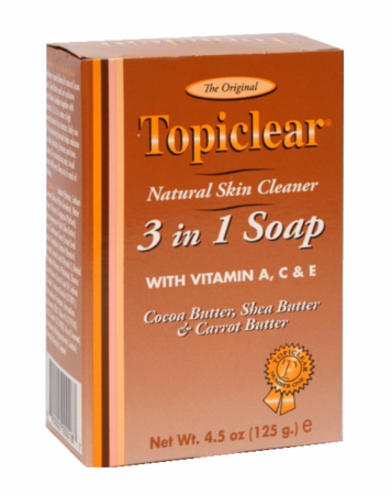 Topiclear Gold 3 in 1 Butter Soap 4.5 oz /125g