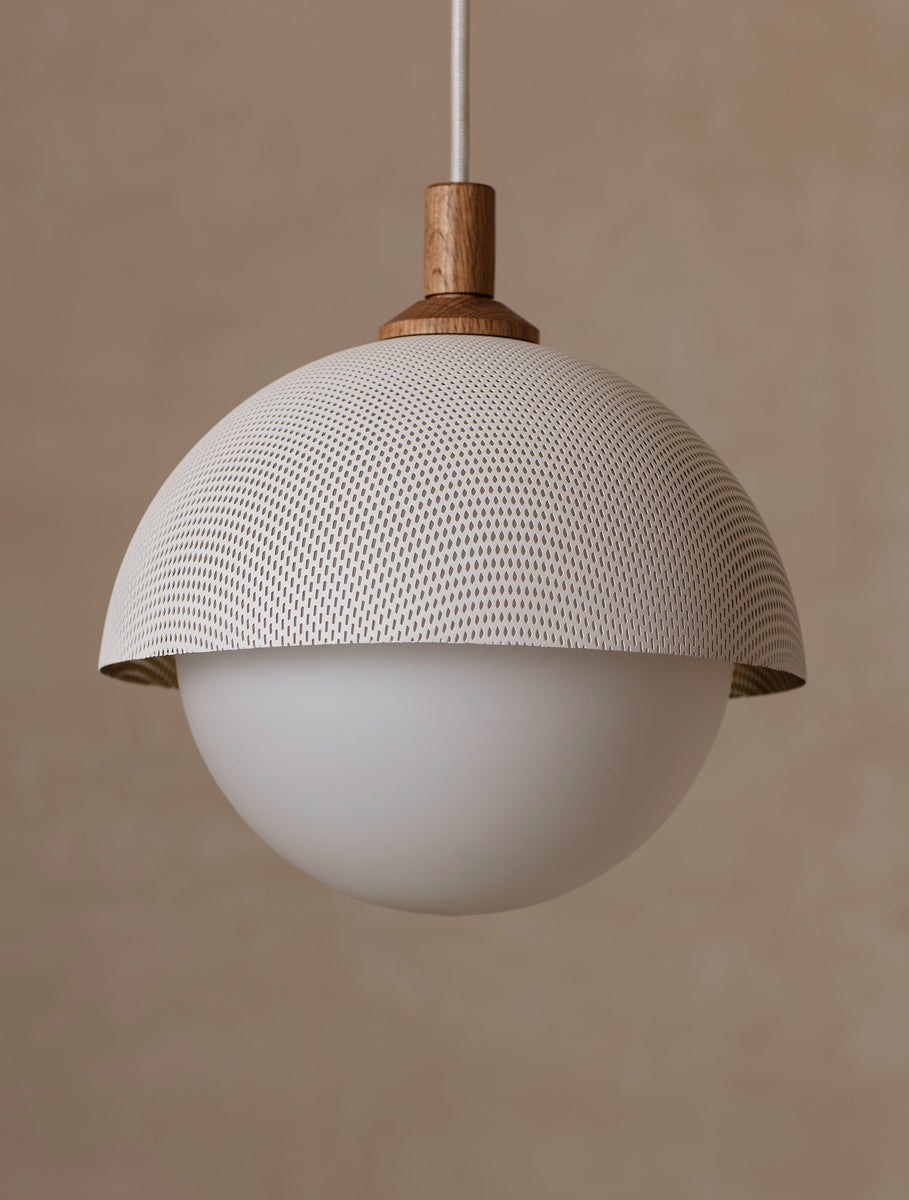 "Dome Pendant 10"" Perforated"