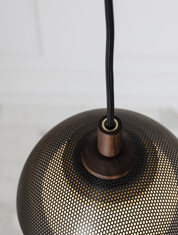 "Dome Pendant 08"" Perforated"
