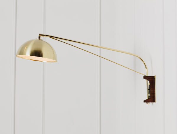 Half dome wall lamp allied maker