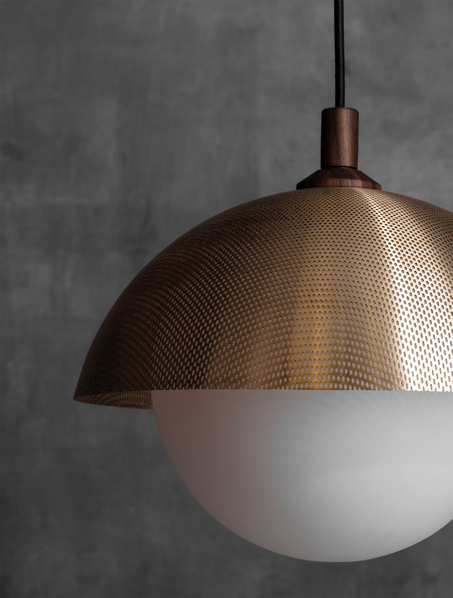 "Dome Pendant 14"" Perforated"