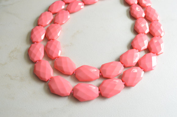 LUCITE ACRYLIC STATEMENT NECKLACES
